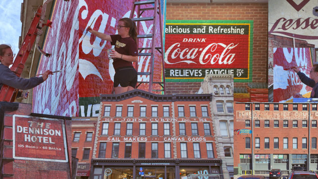 Collage of ghost signs