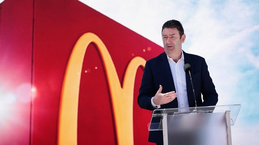 Steve Easterbrook and McDonald's signage