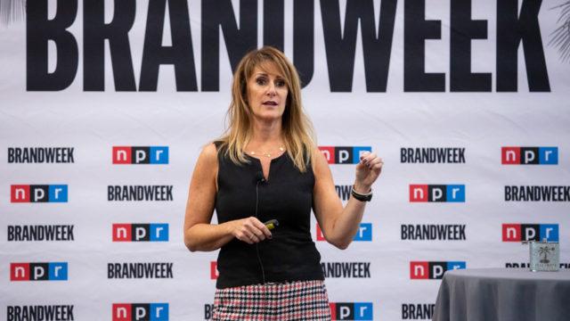 NPR CMO Meg Goldthwaite at Brandweek