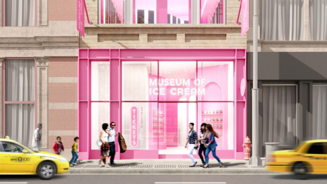Exterior render of Museum of Ice Cream