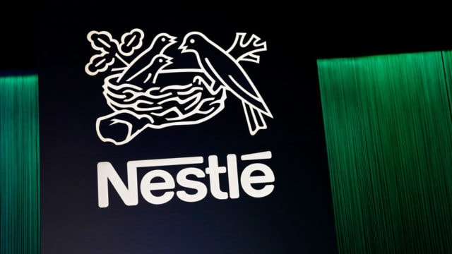 Nestle white logo on black