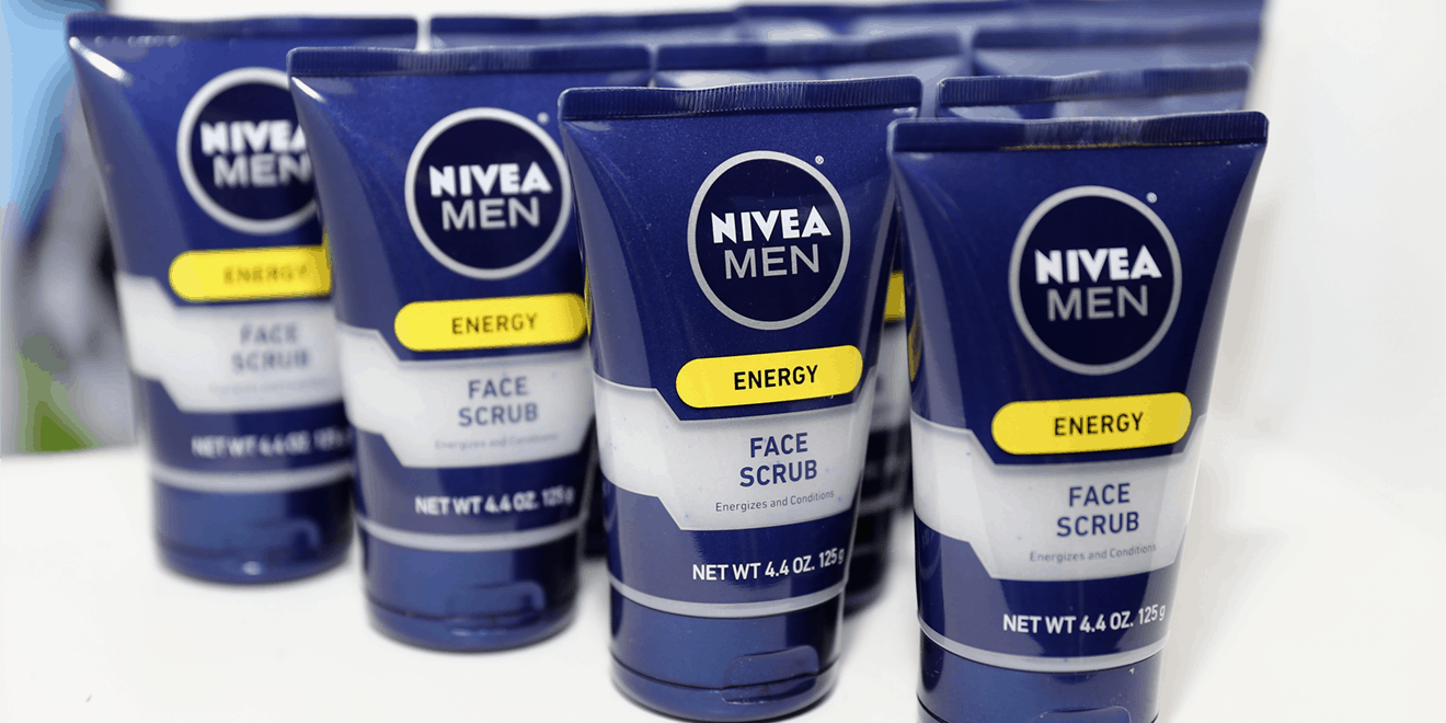 a line of nivea skincare products