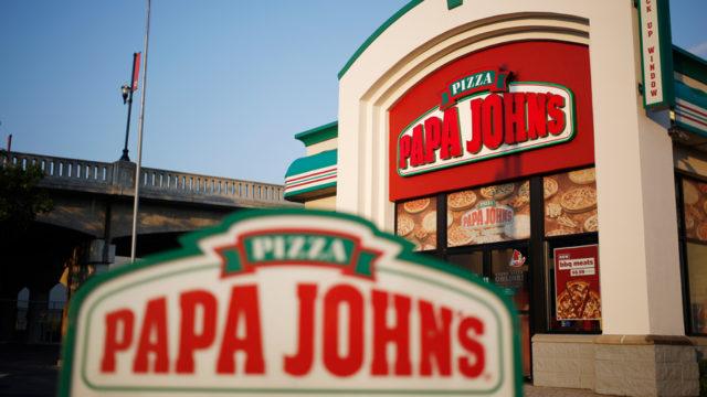 Papa John's signage and store