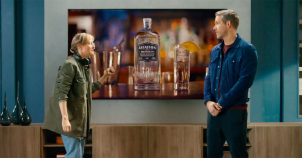 Ryan Reynolds Sneaks an Aviation Gin Ad Into a Movie Ad Inside a Samsung Ad