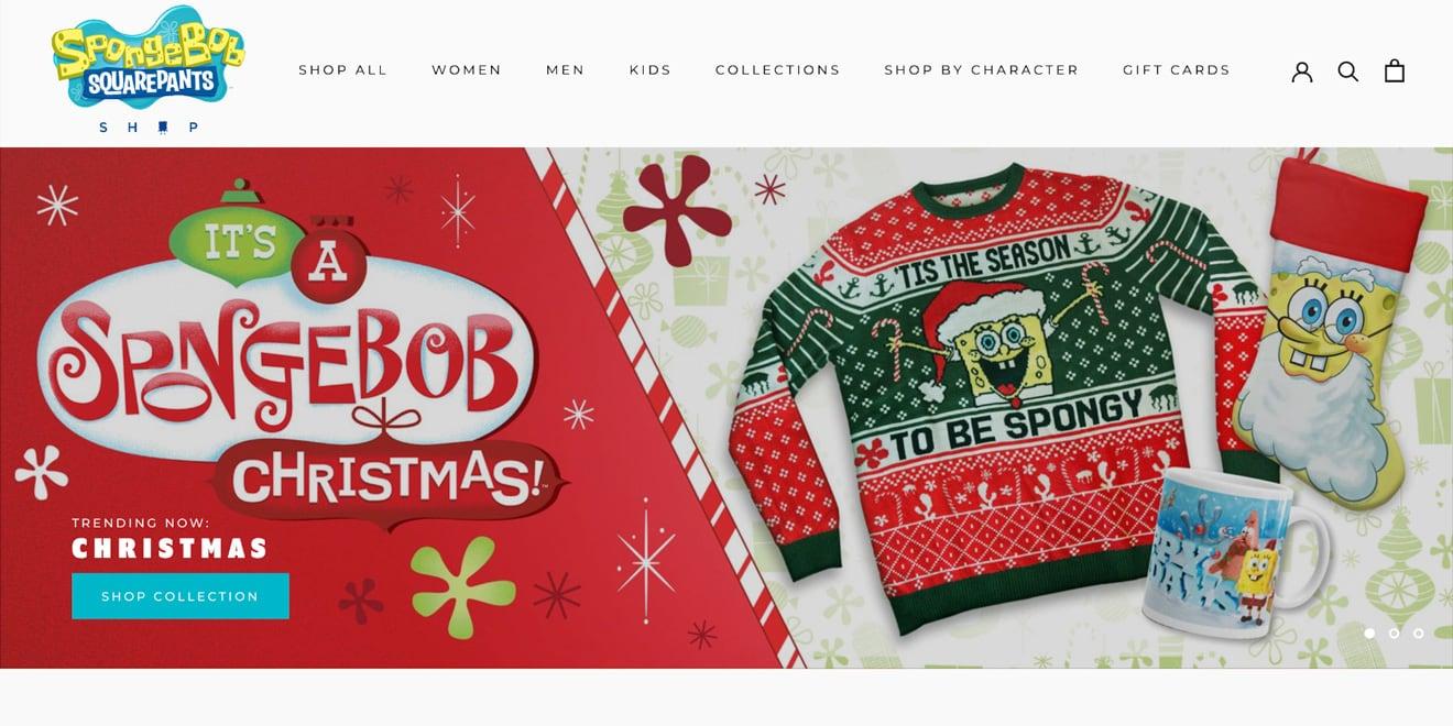 Spongebob ecommerce website
