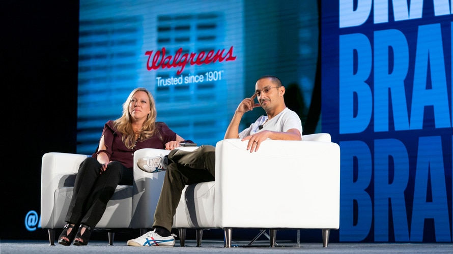 Nadine Dietz and Vineet Mehra at Brandweek