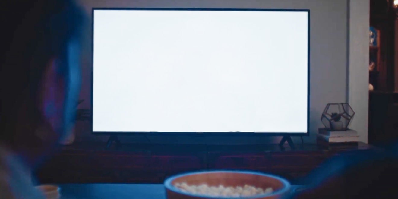 a blank TV screen