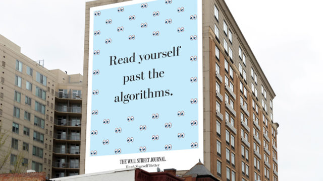 "a billboard that read ""read yourself past the algorithms"""