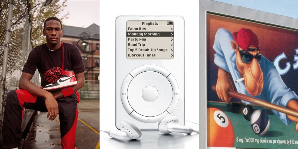 Michael Jordan, and iPod and Joe Camel