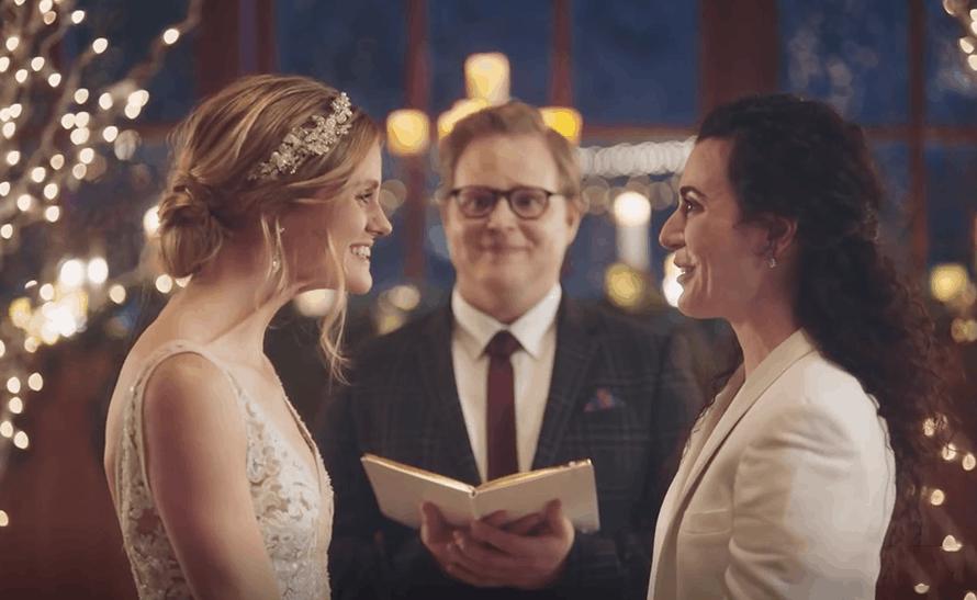 Zola commercial same sex couple hallmark 2019