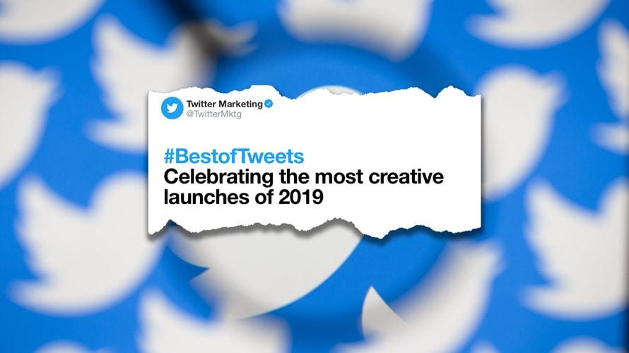 Twitter Marketing BestofTweets tweet on a collage of blurred twitter logos