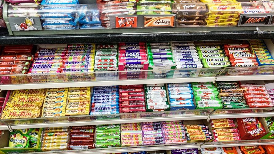 In-store candy shelf