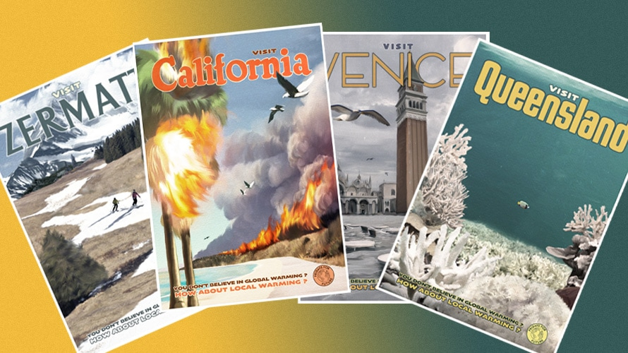 Fridays future social poster, Zermatt, California, Venice, and Queensland