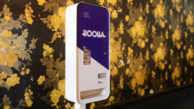 the hooha smart tampon vending machine