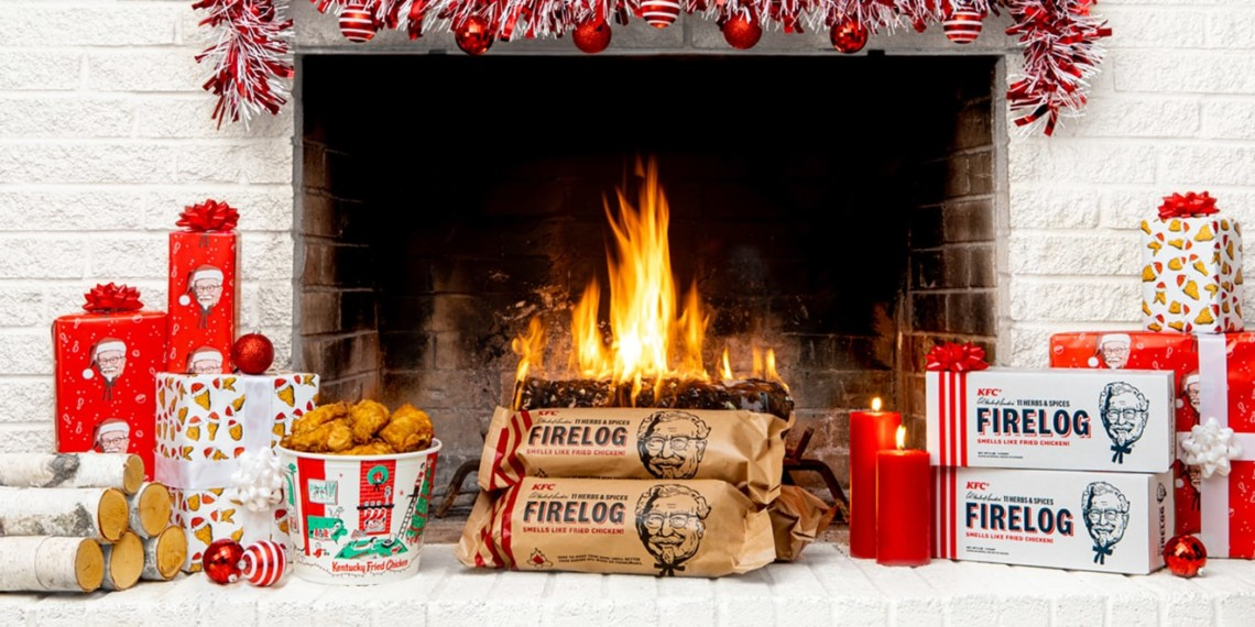 KFC Reintroduces Fried Chicken-scented Firelogs