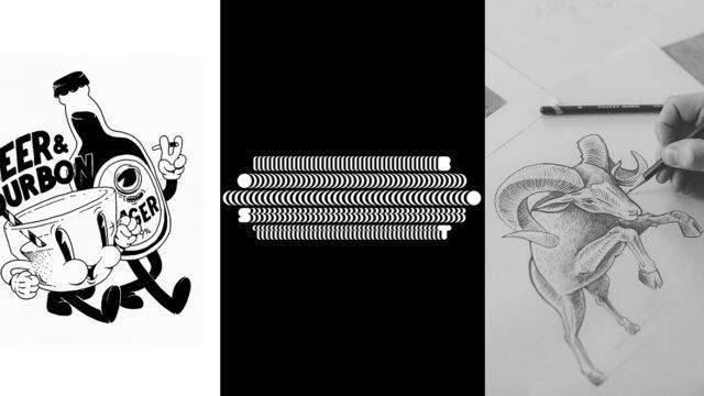 three logos next to each other