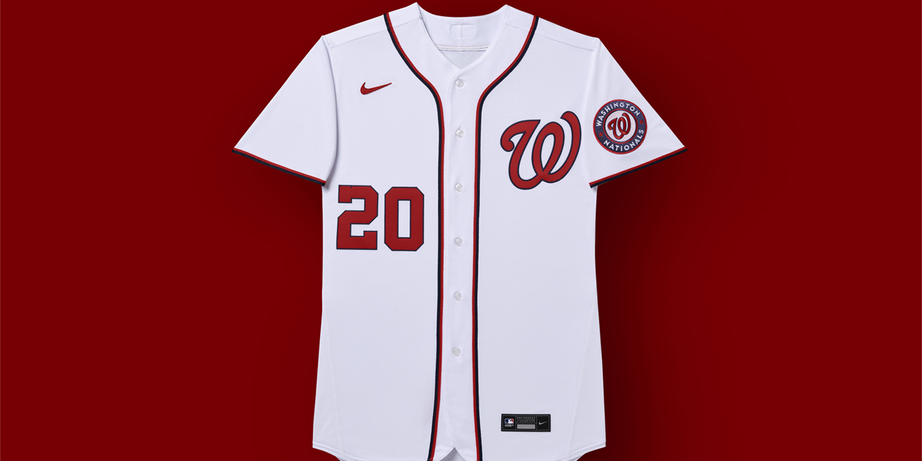 the new washington nationals jersey with the nike logo on it
