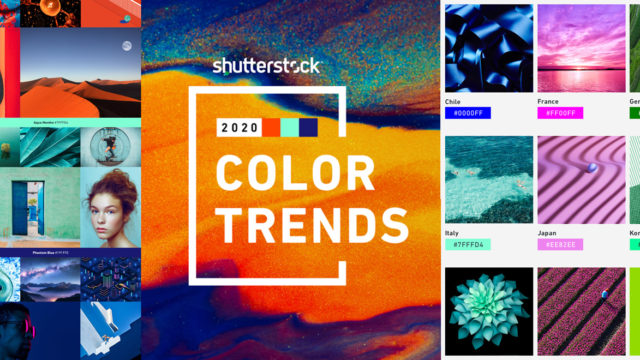 a collage of images showing popular colors