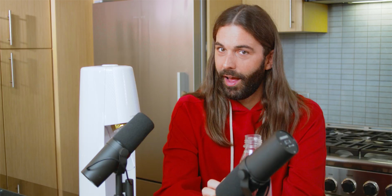 jonathan van ness getting fizzy with it.