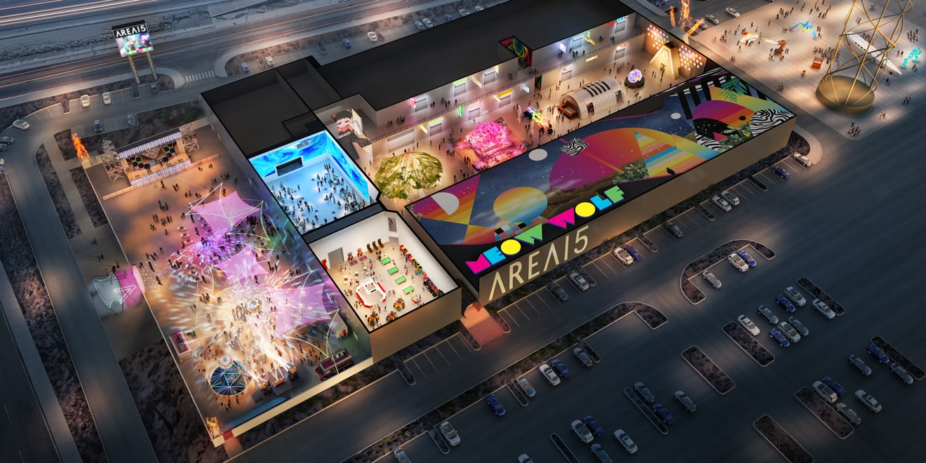 a rendering of Area51, the upcoming Las Vegas tourism district