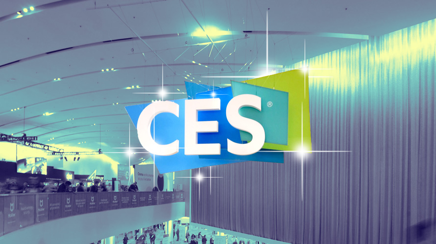A show floor with the CES logo
