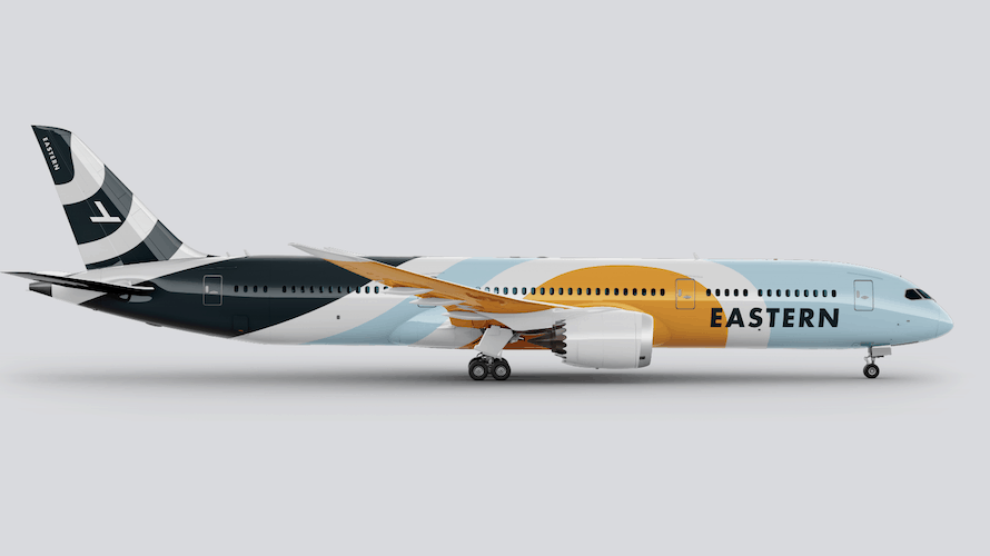 a rebranded eastern airlines plane
