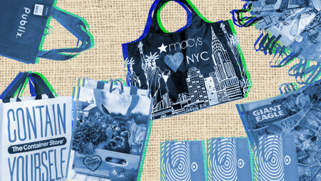Reusable bags from Publix, The Container Store, Wegmans, Macy's, Target, Giant Eagle and Trader Joe's
