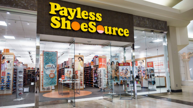 a payless shoes storefront