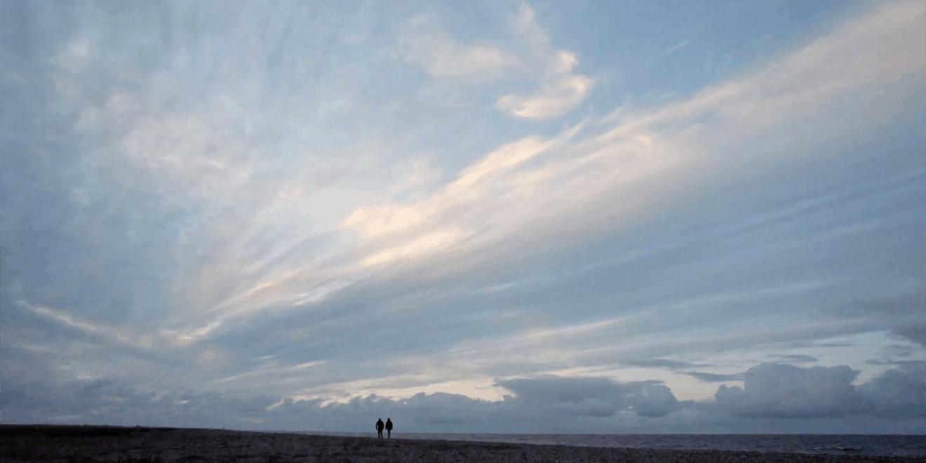 Big open sky over a plain