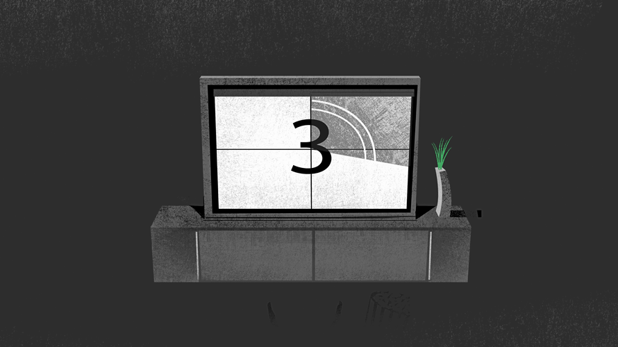 illustration of smart tv count down