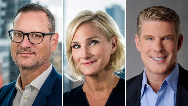 Headshots of John Halley, Karen Phillips, and David Lawenda