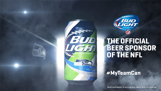 Bud light unveils 28 different team specific cans for nfl fans adweek august 19 2015 mozeypictures Gallery