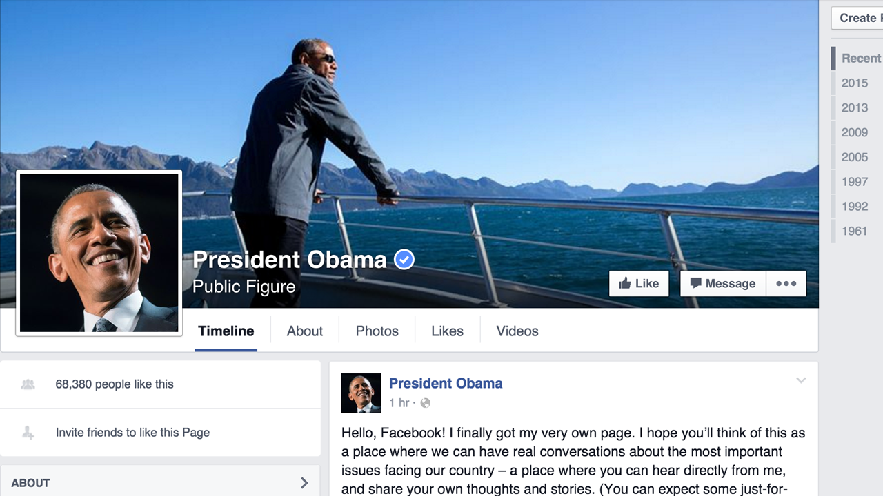 The President Of The United States Now Has An Official Facebook Page