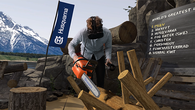 This Swedish Chainsaw Brand Just Launched a Virtual Reality Logging Game