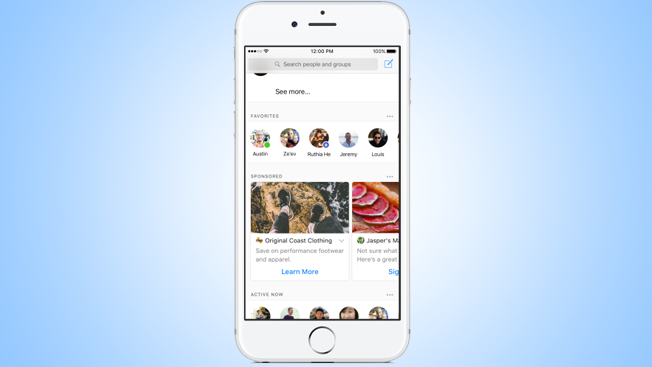 Facebook Is Testing Ad Placement on the Messenger Home Screen