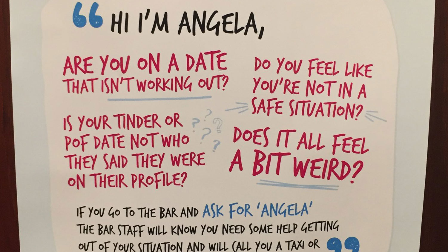 how this poster in a women u2019s restroom at a bar cleverly