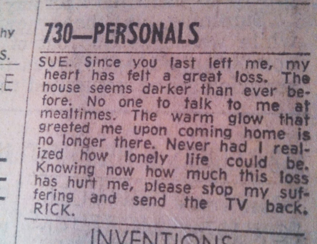 Real personal ads