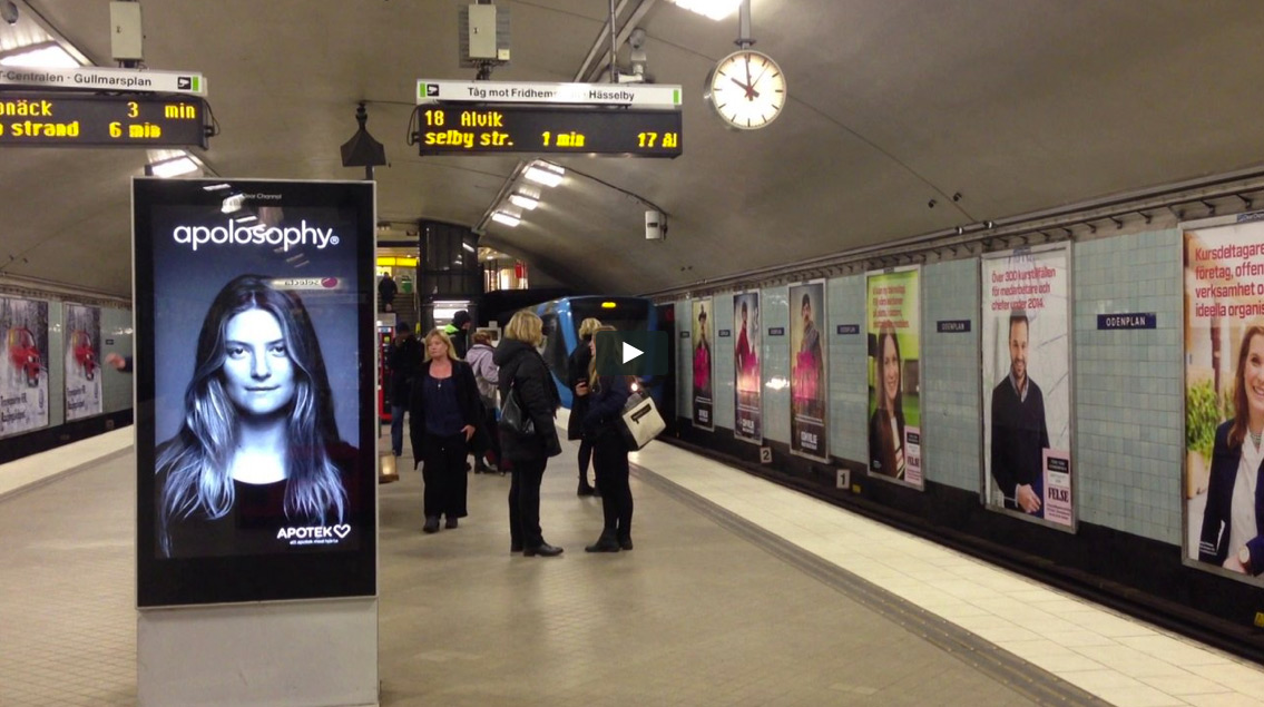 Wonderful Subway Ad Shows a Woman's Hair Blowing Around Whenever a Train Arrives