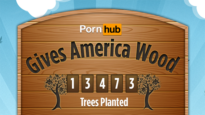 Pornhub Marks Arbor Day by Planting a Tree for Every 100 Big-Wood Videos Watched