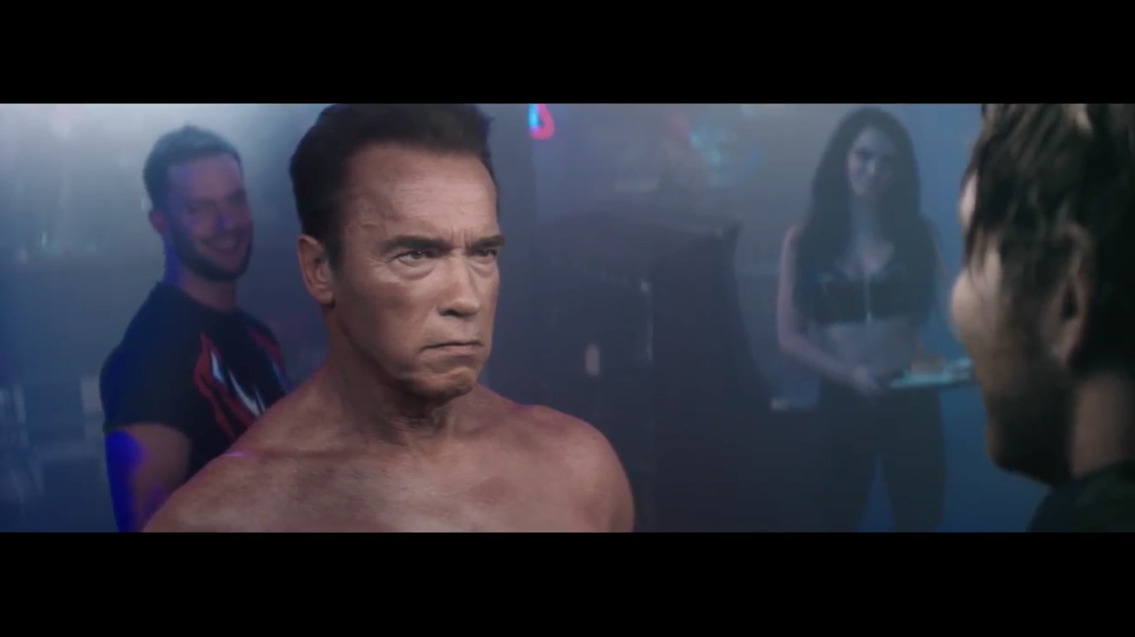 Arnold schwarzenegger re creates terminator 2s bar fight scene for arnold schwarzenegger re creates terminator 2s bar fight scene for video game ad altavistaventures Gallery