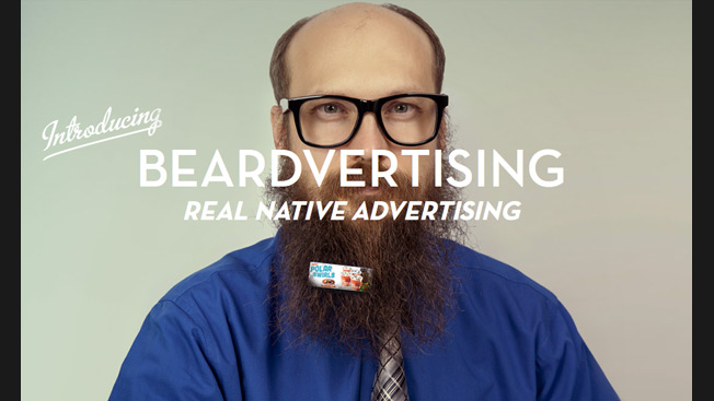 Introducing Beardvertising: Tiny Billboards That Clip on to Your Beard