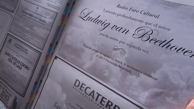 Radio Station Runs Newspaper Obituaries for Beethoven in Bid to Keep Classical Music Alive