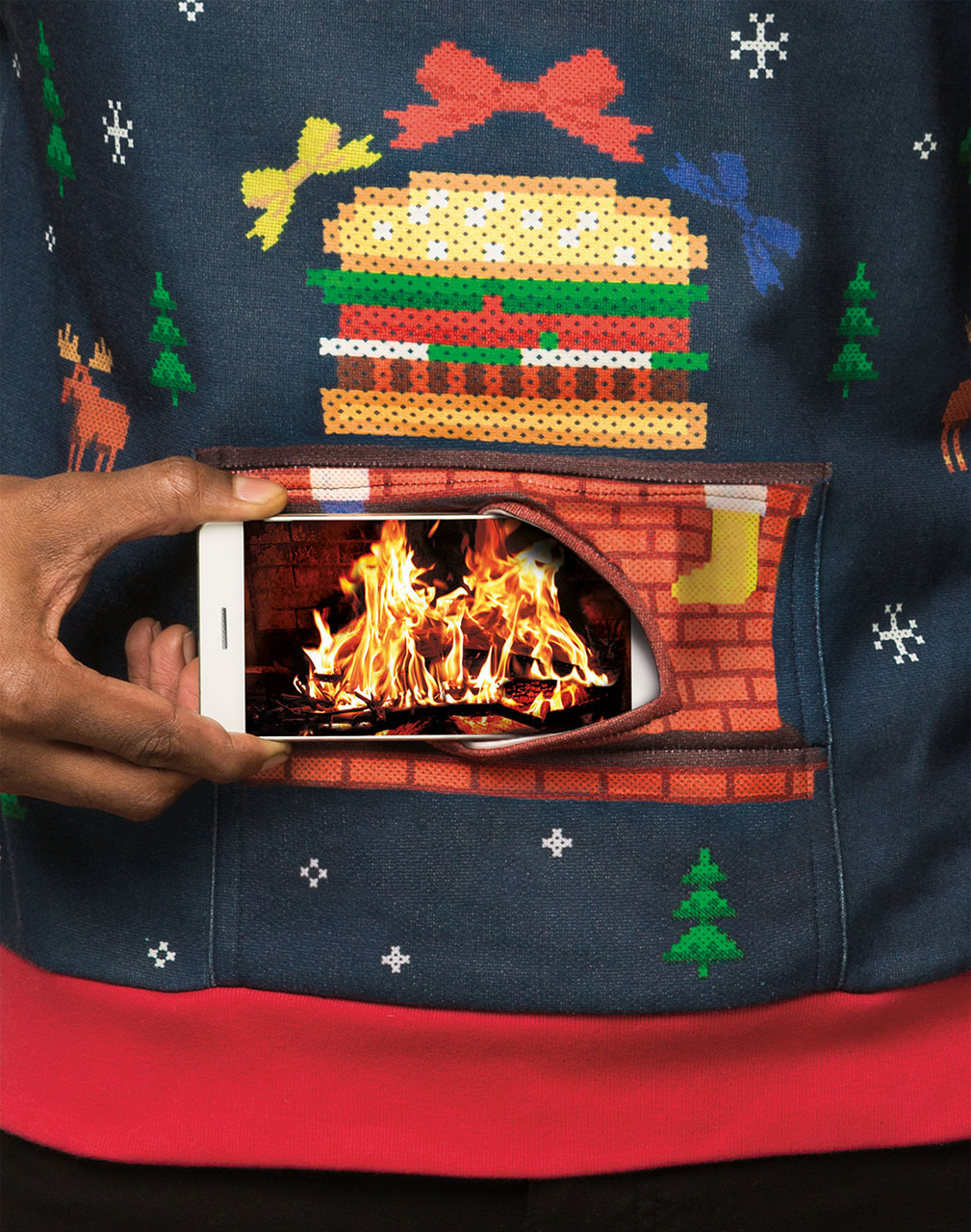 Burger King\'s Ridiculous Christmas Sweater Puts a Burning Yule Log ...