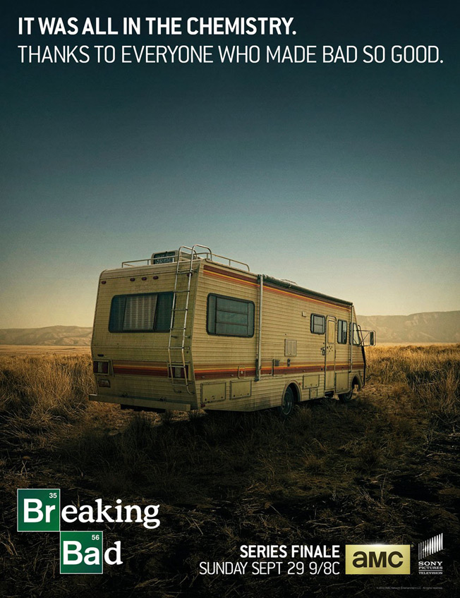 Breaking Bad Thanks Cast and Crew in Simple, Great Ad for the Series Finale