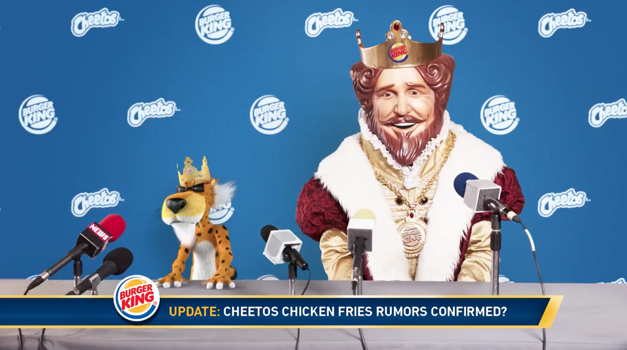 What Were Chester Cheetah And Burger Kings King Hinting At During
