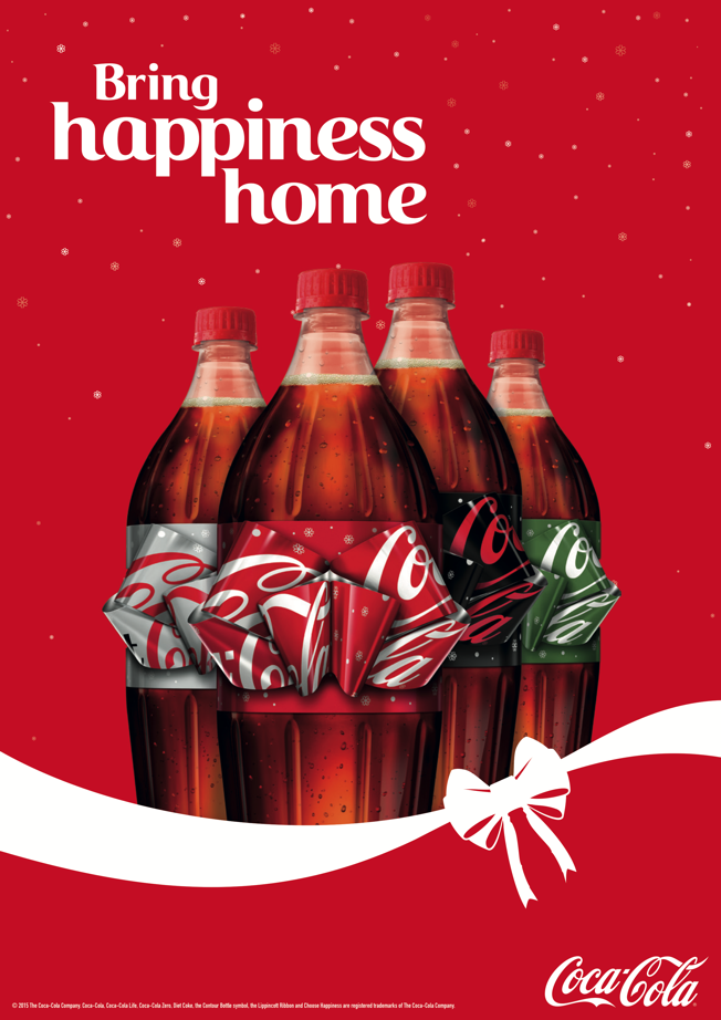 Coca Cola S Ingenious Holiday Bottle Has A Label You Pull