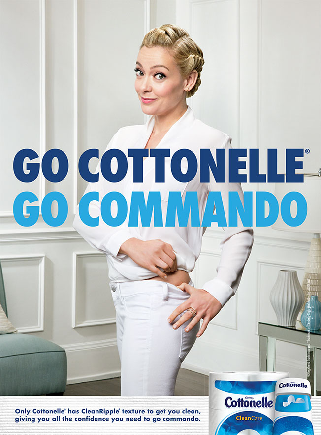 Commando means without underwear