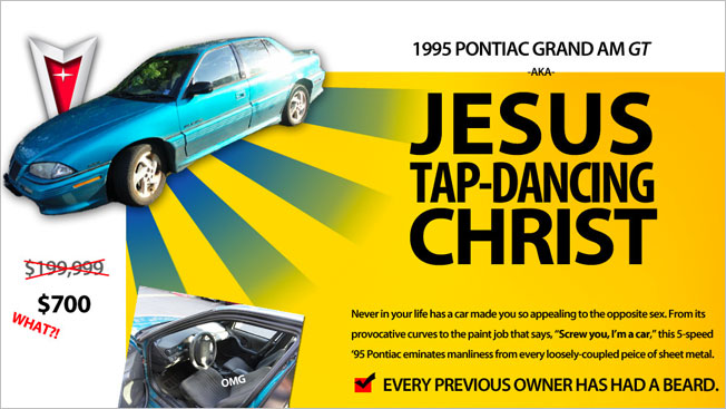 Most Absurd Craigslist Ad Ever For A 95 Pontiac Grand Am Gt