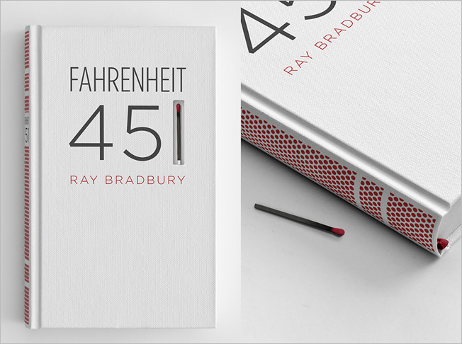 Burn After Reading: A Curiously Combustible Book Design for Fahrenheit 451