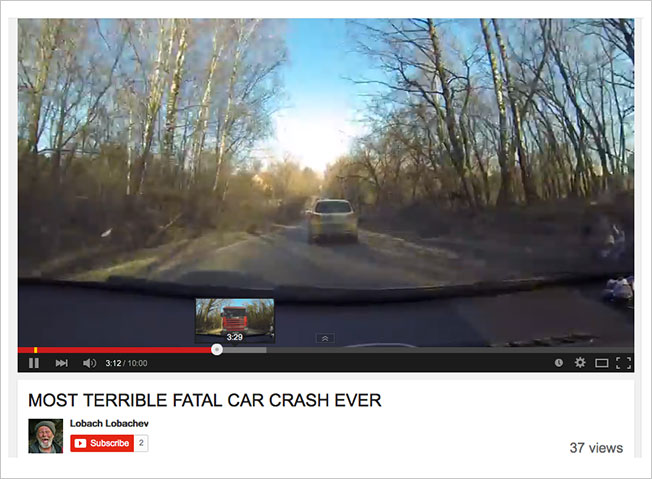 Ingenious 'Fatal Car Crash' Video on YouTube Shows an Accident Only
